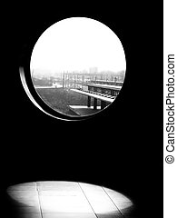 Black white window view - black and white window view on ...
