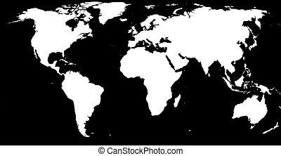 Black & white world - White on black earth