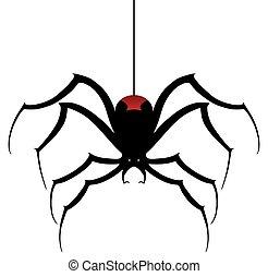 Black Widow Spider Descending