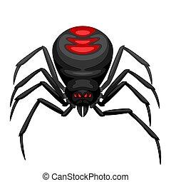 Black widow spider icon.