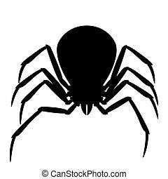 Black widow spider silhouette.