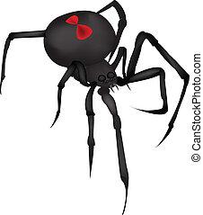 Black Widow Spider Vector by Angela Designs