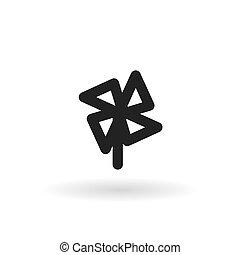 Black windmill line icon