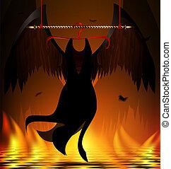 black wings of an angel