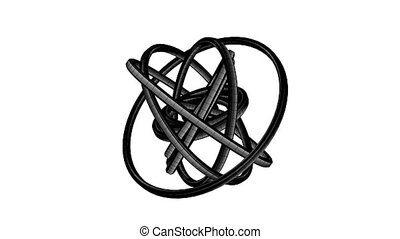 Black Wire Frame Circle Abstract - Loopable Black Wire Frame...