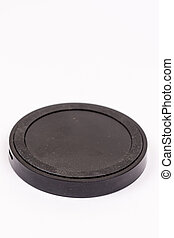 Black wireless mobile charger isolated over white background