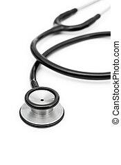 black , witte , stethoscope, achtergrond, verticaal