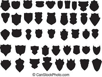 black , witte , vector, kunst, schild