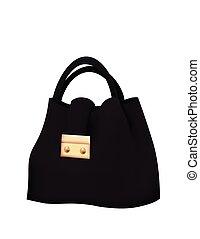 Black woman bag, vector illustration