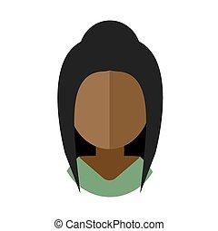 black woman flat icon avatar