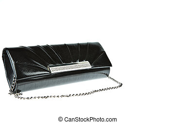 Black woman purse isolated on white background
