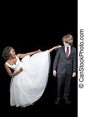 black woman, rúgás, ember