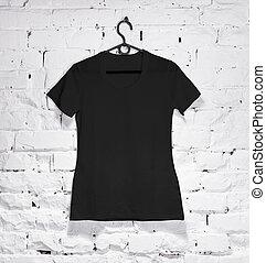 Black woman t-shirt on hanger