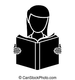 black woman to read a book icon