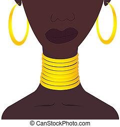 Black woman with jewelies