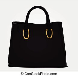 Black women bag vector
