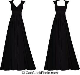 Black women elegant dress