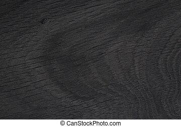 Black wood texture. Old natural oak.