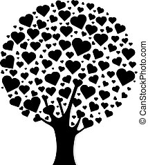 Black Wood With Hearts