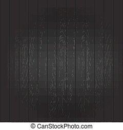 Black Wooden Background, Vector Illustration