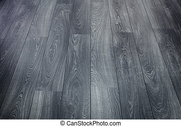Background of Black Wooden Parquet Floor Texture