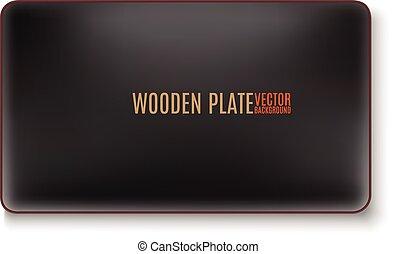 black wooden plate