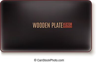black wooden plate