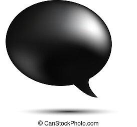 Black word speech on white