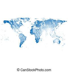 Black World Map Vector