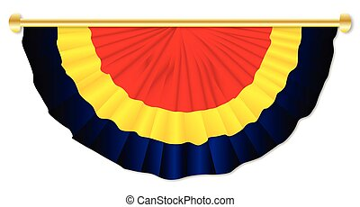 Black Yellow Red Bunting