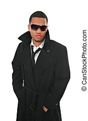 Black Young Male Fashion Model