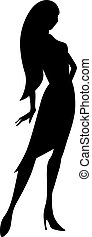 black young woman silhouette