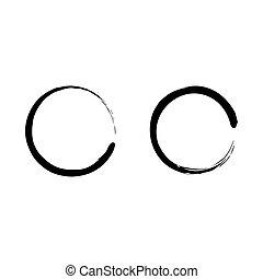 Black Zen Circle Vertor Art Set Icon