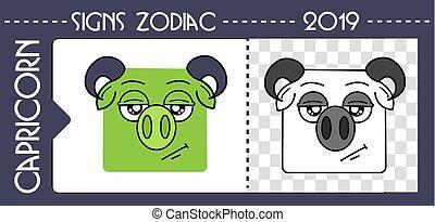 black zodiac pig capricorn