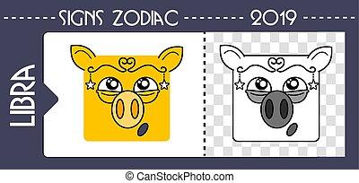 black zodiac pig libra