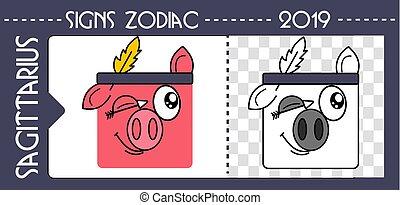 black zodiac pig sagittarius