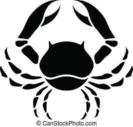 black , zodiac, ster, kanker, meldingsbord