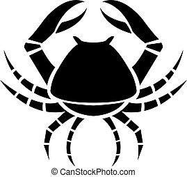 Black zodiacs Cancer