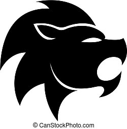 Black zodiacs leo - Black leo isolated on white