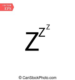 Black zzz paper origami snoring sign. concept of goodnight, token, expression, message, standby, drowsiness, nap. isolated on transparent background. flat style trend modern logotype design vector illustration