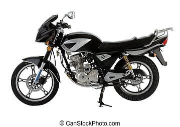 black_motorbike - black off-road bike isolated on white...