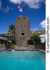 Blackbeards Tower in St Thomas