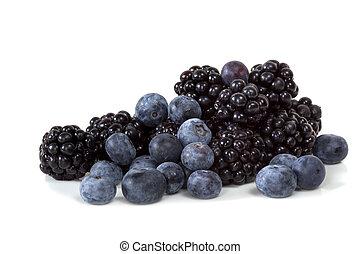 Blackberries and Blueberries - Blackberries and blueberries,...