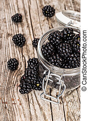 Blackberries in a glass
