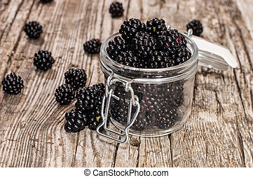 Blackberries in a glass