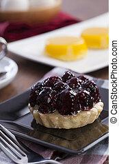 blackberries tart