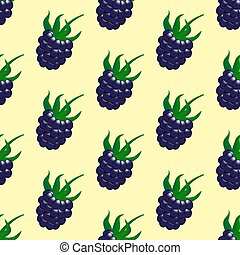 Blackberry Berry seamless pattern