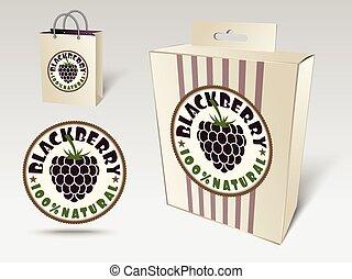 Blackberry label concept