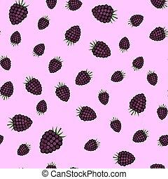 blackberry., padrão, seamless