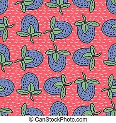 Blackberry seamless pattern. Blue berry ornament texture